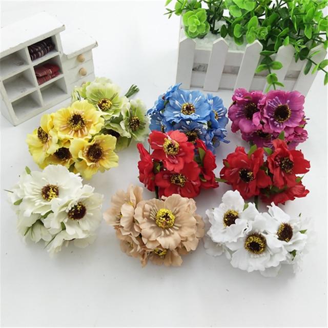 12 Stucke Seide Wald Stil Daisy Kunstliche Blumen Blumenstrauss Fur