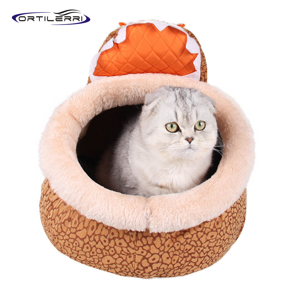 Ortilerri Goods For Pets Animal Series Short Plush Sponge Dog House Teddy Bibi Bomei Small Medium-sized Kennel S M L 2016 New