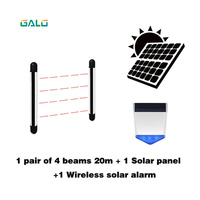 Solar energy Infrared sensor automatic door opening device Anti theft device Gate sensor Fence Alarm 2/4 beams