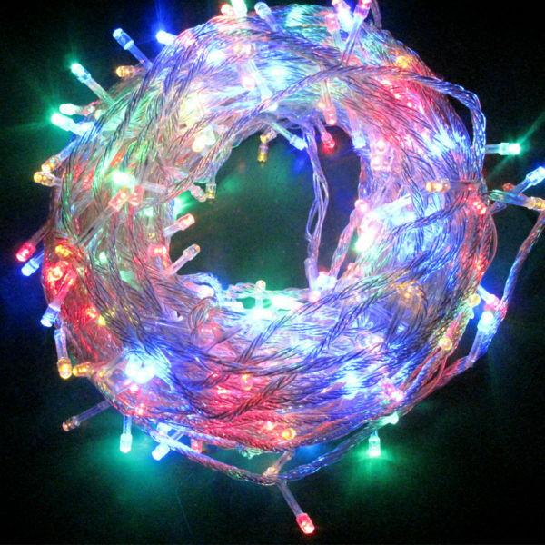 led String Light 100 LED 10M Christmas/Wedding/Party/holiday Decoration Lights AC 110V 220V outdoor Waterproof led lamp цена