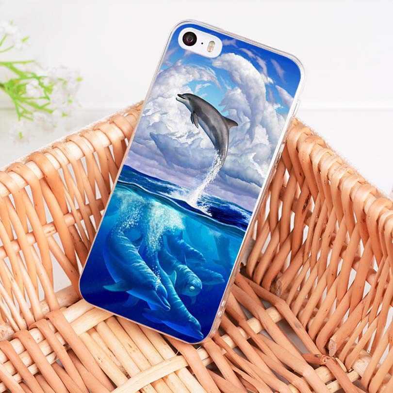 MaiYaCa rodziny delfinów miękkie etui z TPU na telefon pokrywa dla Apple iPhone 8 7 6 6 S Plus X 5 5S SE 5C 4 4S przypadku