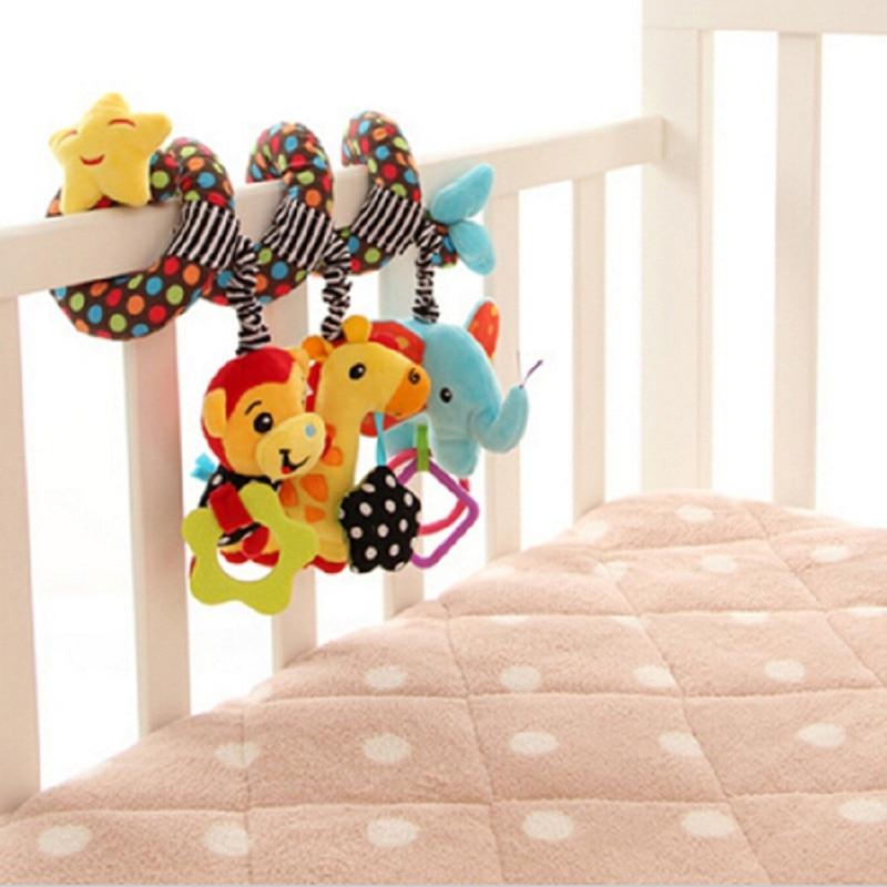 Lindo Bebé de Dibujos Animados Mono Jirafa Elefante Juguetes Cuna - Juguetes para niños - foto 2