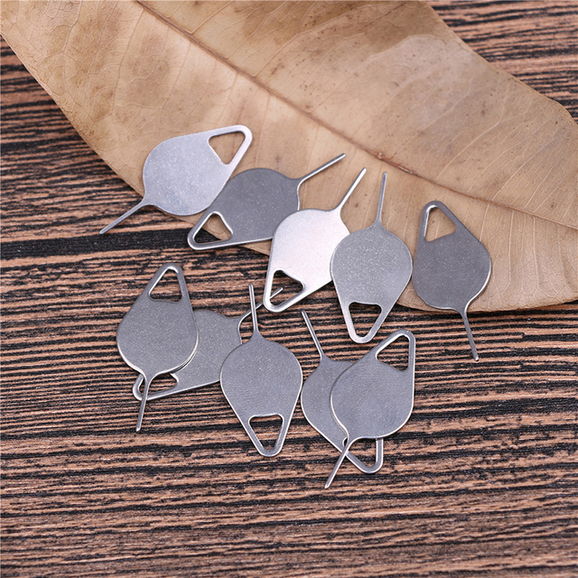 10pcs/set for Sim Card Tray Removal Eject Pin Key Tool Stainless Steel Needle for iPhone iPad Samsung for Huawei xiaomi