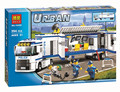 Bela 394pcs Urban City Police Model Building Block Toy Fluidity Police Pursuit for Prisoners