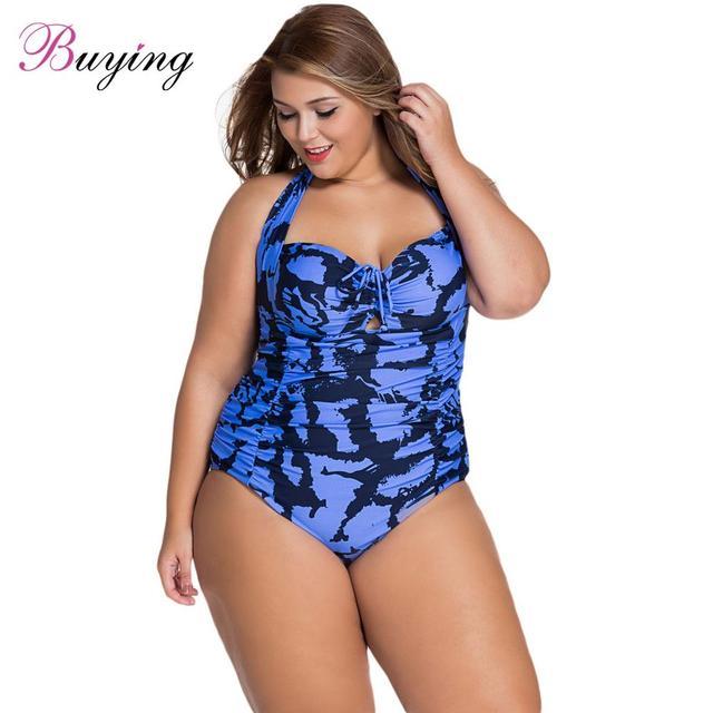 10cd4ec254 One Piece Swimsuit Sexy Women Flower Leopard Monokini Halter Tie Strap Non- Underwire Padded Bathing Suit Plus Size Swimwear