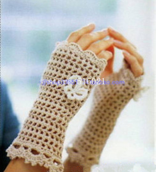 hand knitted crochet fingless glove, sexy accessory women, hand jewelry, Lace, bridal, short fingerless glove, Dance 2pair/lot
