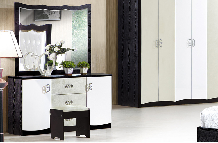 Nuevo diseño de lujo muebles camas queen dormitorio conjunto en Sets ...