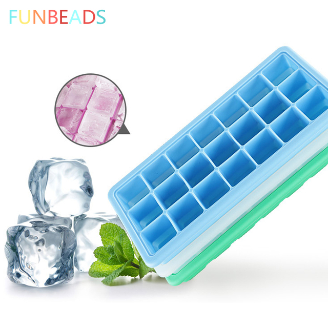 Retail Frozen Ice Cube Trays Popsicle Molds 33cm Cream 21 Grid Form For