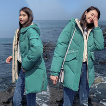 br Winter Women Jackets Cotton Padded Hooded Coat Medium Long Plus Size Parkas Female Outwear Warm Jacket Clothing new 7 colors winter women jackets cotton coat padded long slim hooded parkas female plus size warm wool jacket outwear clothing