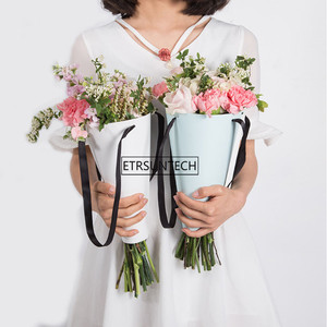Подарочные пакеты для мороженого DIY креативная бумажная корзина для цветов бумажная Сумочка в цветочек Цветочные принадлежности
