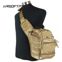 1000D Molle Tactical Airsoft Military Large Capacity Travel Hunting Camping Waterproof Shoulder Chest Waist Bag Camouflage