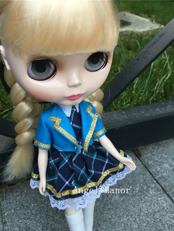 Nude Blyth Doll, gold long hair, big eye doll,Fashion doll Suitable For DIY Change BJD , ZPP006 free shipping nude blyth doll brown gold hair big eye doll fashion doll suitable for diy change bjd for girl s gift