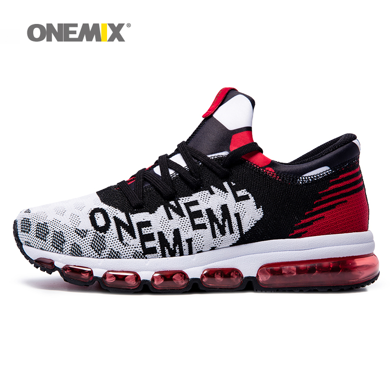 ONEMIX men runner sneaker outdoor women athletic outdoor sport shoes breathable men running shoes damping couple shoe size 36-46 2017 new spring imported leather men s shoes white eather shoes breathable sneaker fashion men casual shoes