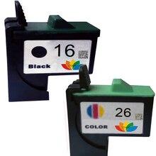 2-PACK Черный/Трехцветный Совместимых Картриджей Lexmark 16/26 для i3 Z25 Z33 Z35 Z513 Z615 Цветной Струйный Принтер