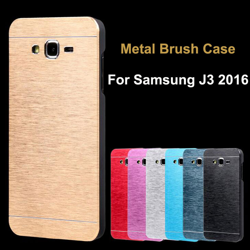 the latest 3eb9a f5cb3 HC68 For Samsung J3 2016 Deluxe Brushed Metal Aluminium PC Case For ...