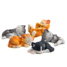 Cute Sleeping Baby Cat 3D Action Figure Magnet Cartoon Pattern Fridge Magnet Stickers Children Educational Toy Birthday Gift(China)