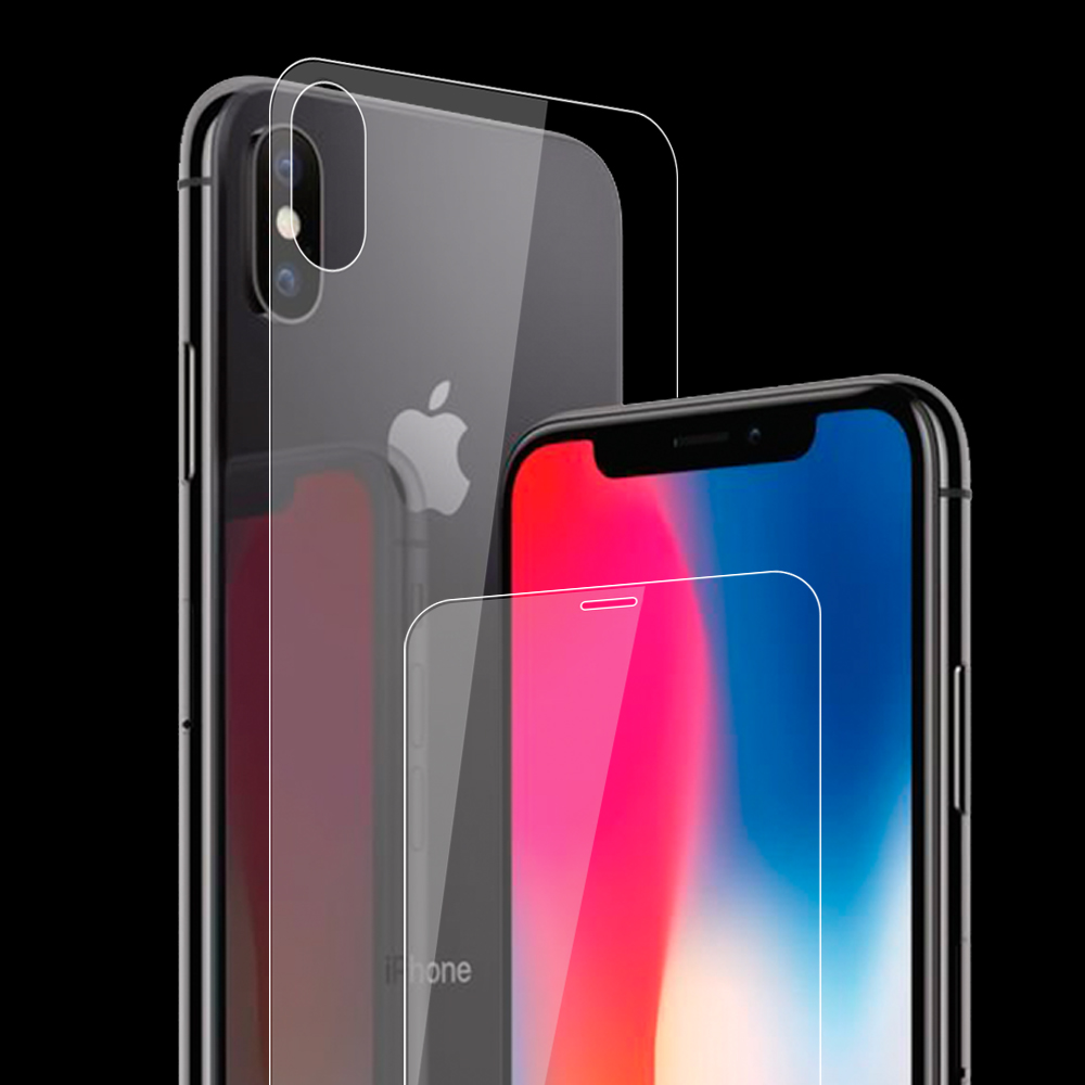 for Apple iPhone X 10 2017 front back screen protector tempered glass case bubble free accessaries