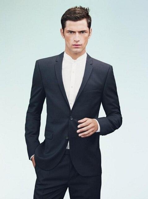 (Jacket + Pants) Traje de Los Hombres 2017 de la Nueva Llegada Classic Marca de Moda Delgado Formal de La Boda Del Partido Del Smoking Negocios Fromal Trajes de vestir