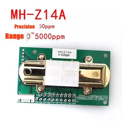 5pc NDIR CO2 SENSOR MH Z14A infrared carbon dioxide sensor module,serial port, PWM, analog output MH Z14 gas sensor