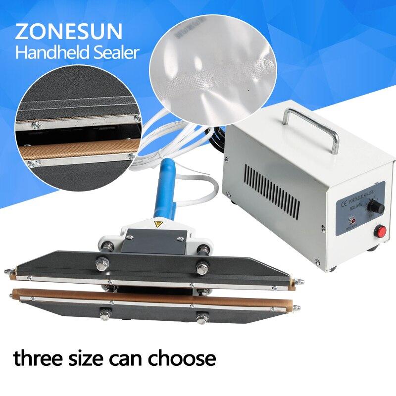 ZONESUN 200mm Direct-heat Plier portable impulse sealing machine plastic bag sealer for aluminum composite film snack packaging zonesun pe stretch film machine