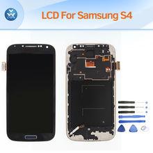 Полная сборка ЖК-дисплей для Samsung Galaxy S4 i9500 i9505 ЖК-экран сенсорный дигитайзер рамка замена pantalla белый синий