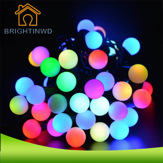 Small white ball 30 led lights string together outdoor solar led small white ball 30 led lights string together outdoor solar led string with ip65 waterproof outdoor workwithnaturefo