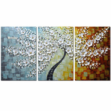 Hand Painted Knife Gold flower Oil Painting Canvas Palette Painting For Living Room Modern flower tree picture Wall Art Pictures bluetooth car stereo audio in dash one din built in fm radio receiver aux input receiver sd card usb mp3 player charger function