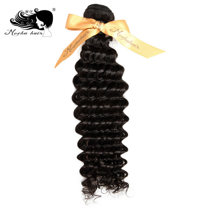Mocha Hair Deep Wave Brazilian Remy Hair  Extension 12inch-28inch Nature Color  100% Human Hair Weaves