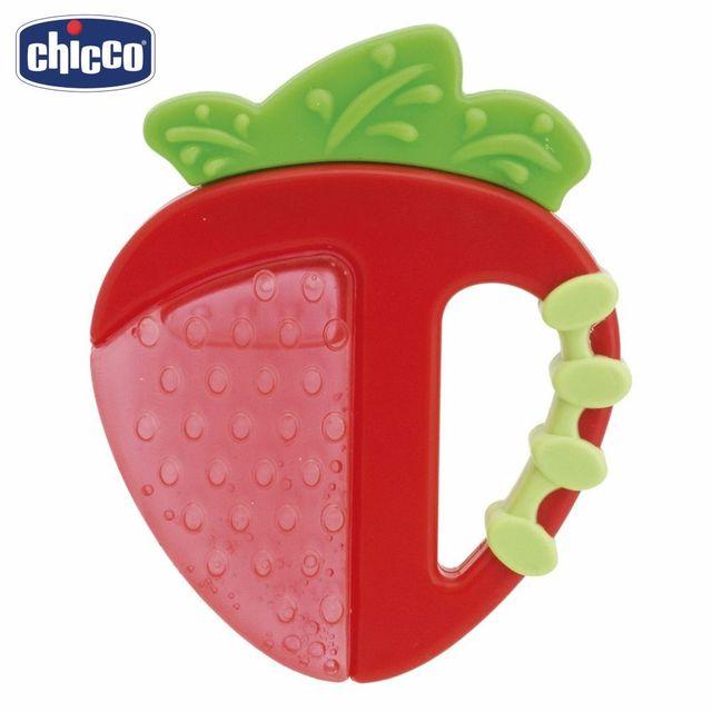 """Прорезыватель-игрушка Chicco Fresh Relax """"Фрукты"""", клубничка, 4 мес.+"""