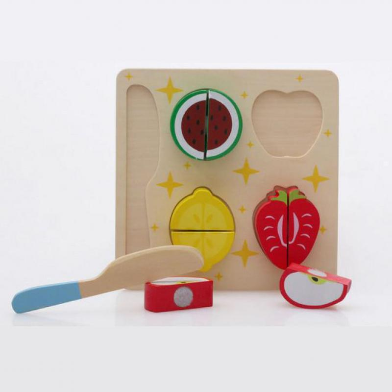 Holzspielzeug Multifunktionale Obst Puzzle Obst Spiel Montessori ...