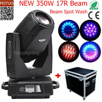 2pcs+flight case Lyre Sharpy 350w Beam 17r Moving Head Light 3IN1 Spot Beam Wash Moving Head Party Disco Stage Lights