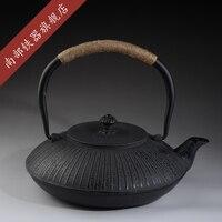 2017 Japanese Teapot Cast Iron Tea Pot Set Tetsubin Kettle 1200ml Kung Fu Chinese Kung Fu Boil Water Drinkware Tools Authentic