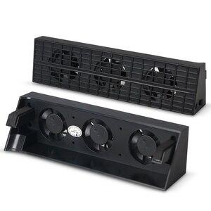 Image 4 - קונסולת אוהדים קרירים פלייסטיישן 4 Slim USB חיצוני 3 אוהדי טורבו טמפרטורת קירור USB כבל עבור PS4 Slim משחק קונסולה