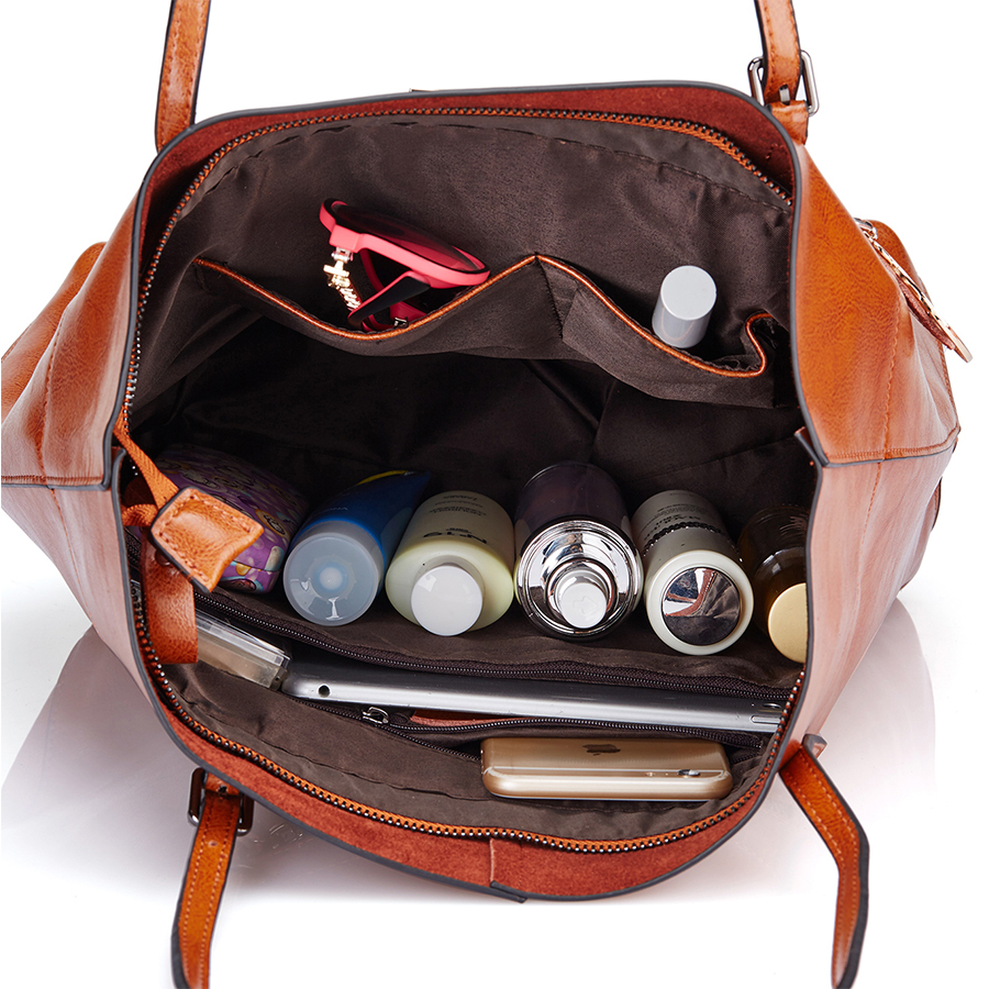 DUSUN Women Bag Genuine Leather Handbag Casual Women's Tote Fashion Famous Brand Large Capacity Vintage Shoulder Messenger Bag
