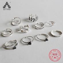 Горячая 925 стерлингового серебра индивидуальный микс Мода лаконичный Ретро мужчины и женщины винтажное регулируемое серебряное кольцо