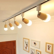Buy track lighting wood and get free shipping on aliexpress lukloy nordic style led spotlights for living room foyer led downlight background aloadofball Choice Image
