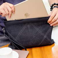 Diamond Genuine Leather Men Clutch Bag Fanshion Handbags High Quality Brand Casual Large Capacity Male Wallets