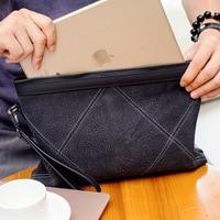 Diamond Genuine Leather Men Clutch Bag Fanshion Handbags High Quality Brand Casual Large Capacity Male Wallets