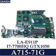 KEFU C5MMH/C7MMH LA-E911P Laptop motherboard for Acer A715-71G original mainboard I7-7700HQ GTX1050