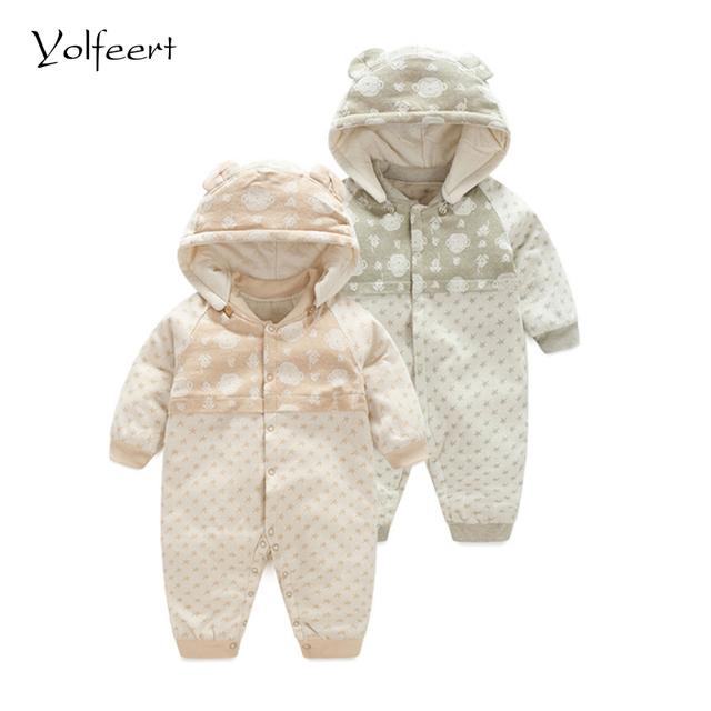 YOLFEERT Espesar Unisex Invierno 0-12 M Bebé Recién Nacido de Los Mamelucos Del Mono Guardapolvos Del Mameluco de la Ropa Del Muchacho Del Bebé Ropa Traje Para La Nieve