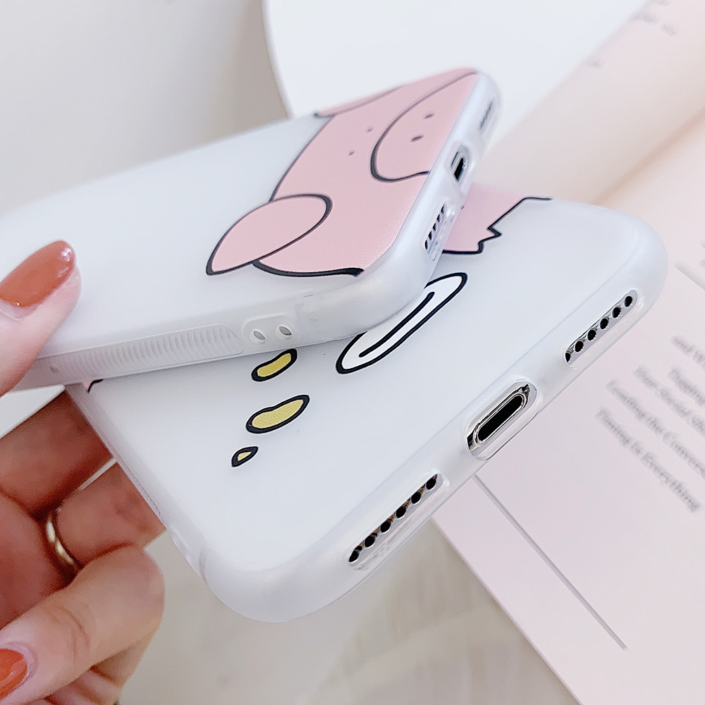 KIPX1100_6_JONSNOW Matte Case For iPhone 7 Plus 8 6 6S 6 Plus X XR XS Max Lovely Pig Baby Pattern Translucent Soft Silicone Cover Cases