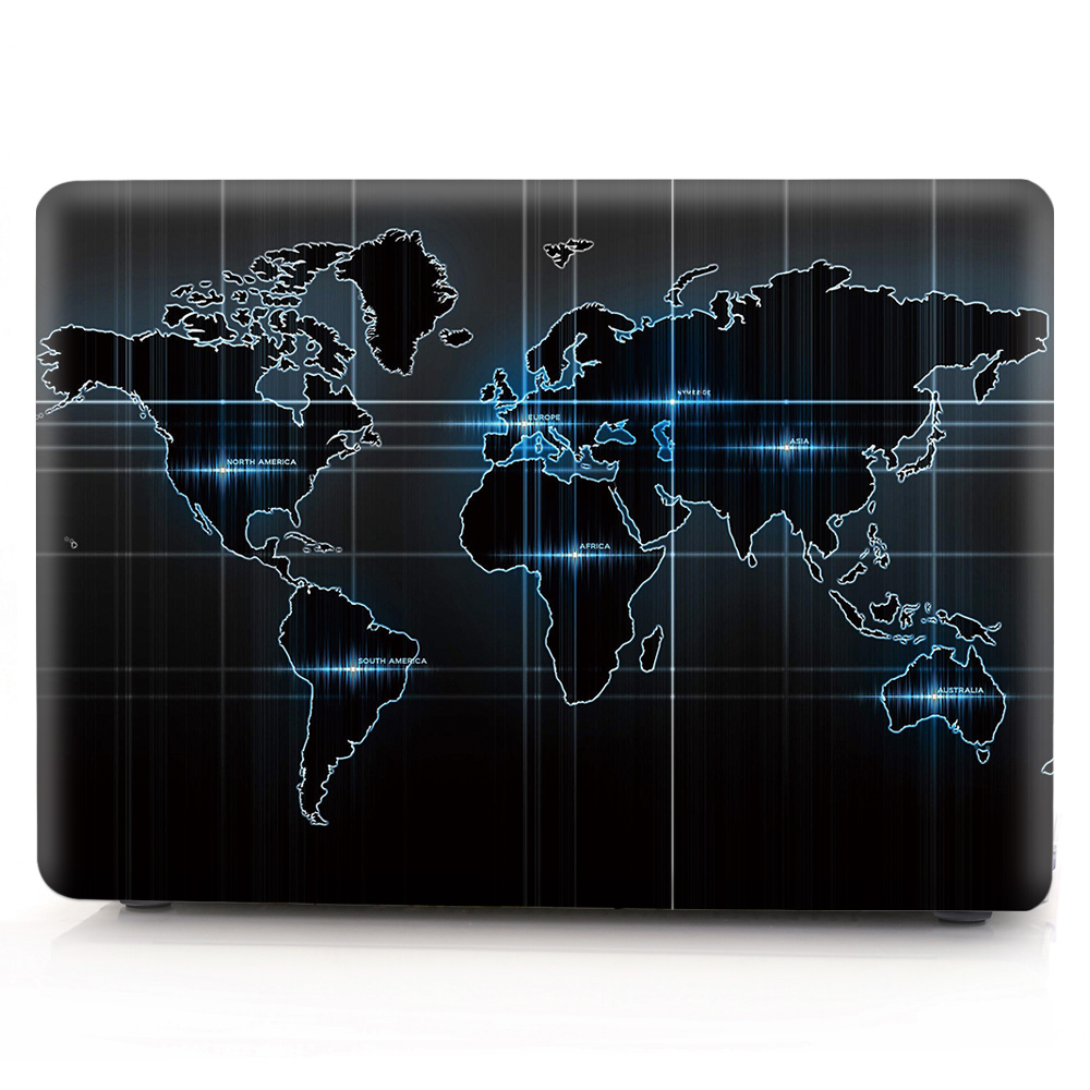 New For Macbook Air Pro Retina 11 12 13 15 Cover Hard PVC Color World Map A1466 Hard PC Coque for Macbook Pro 13 A1989 2018 Case (5)