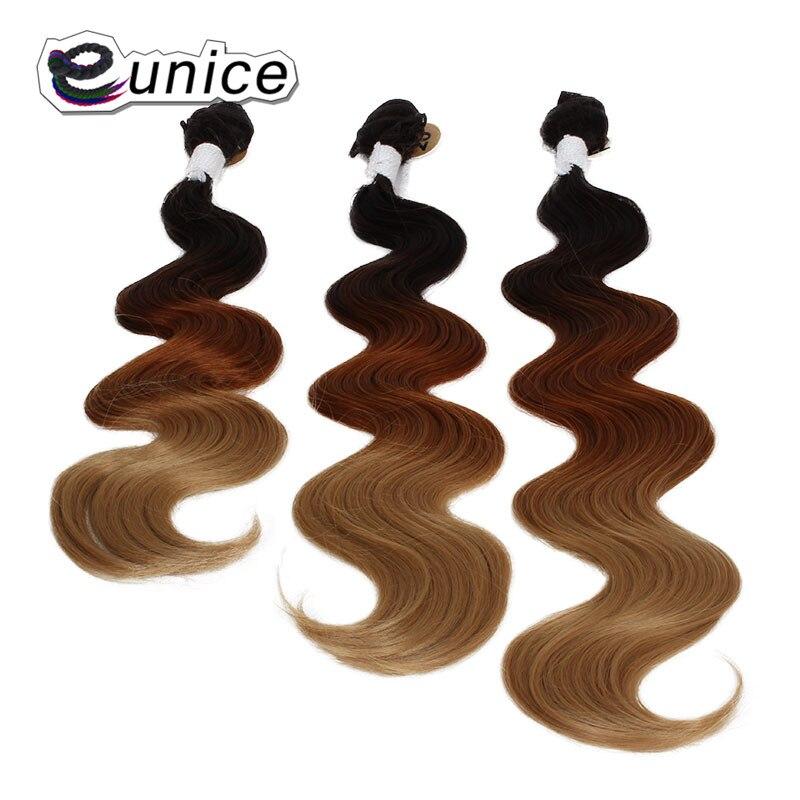 Синтетические волосы утка Средства ухода за кожей волна пучки волос Ткань Температура Волокно шить в Юнис волос 3 тон Цвета для Для женщин