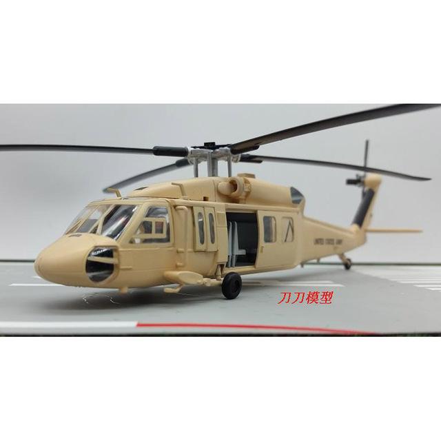 Amer ee.uu. de la fuerza aérea UH-60A Blackhawk Sandhawk helicóptero 1/72 escala Diecast acabado modelo de juguete para recoger regalo