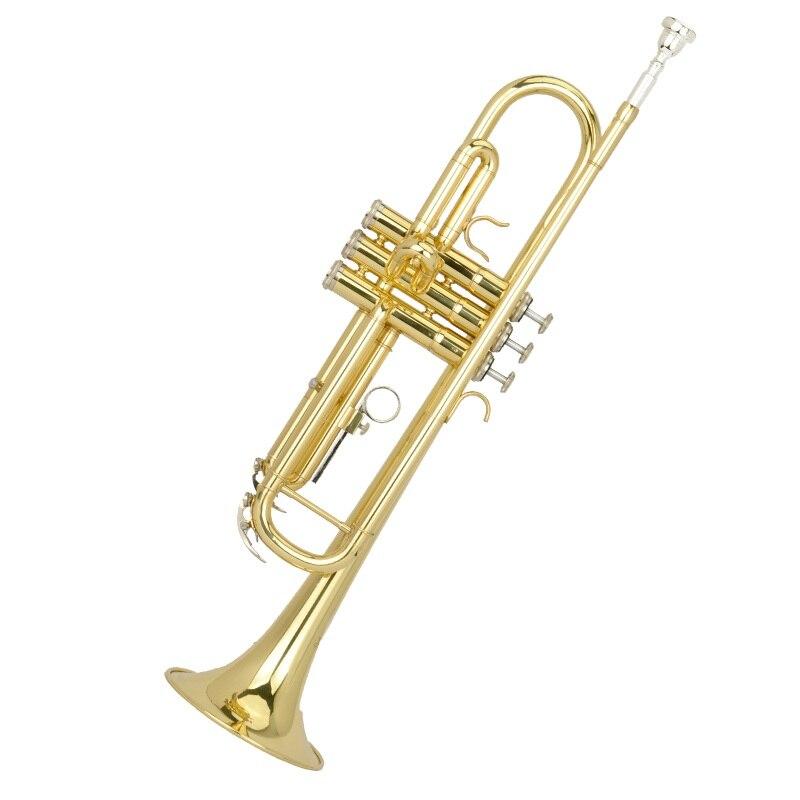 Bb or trompette laiton revêtement extérieur trompette instrument de musique primaire employer performance trompette jaune laiton vent musique
