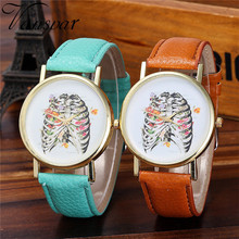 Vansvar Watch Candy Color Skeleton pattern  Male And Female Strap Wrist Watch Stylish Unique Design Simple Style Watch M25
