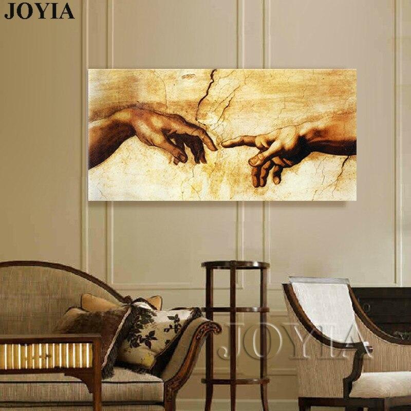 Gran lienzo arte pintura impresa viejos maestros Michelangelo Buonarroti foto de pared clásica para la decoración de la sala de estar, sin marco