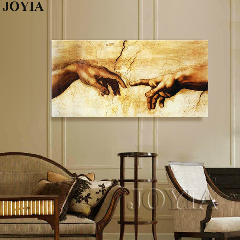 large canvas art for living room decorating open floor plan and kitchen printed painting old masters michelangelo buonarroti classical wall picture decor no frame