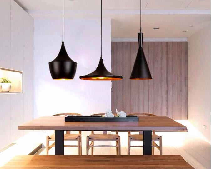 1 conjunto abc luzes pingente lâmpada loft