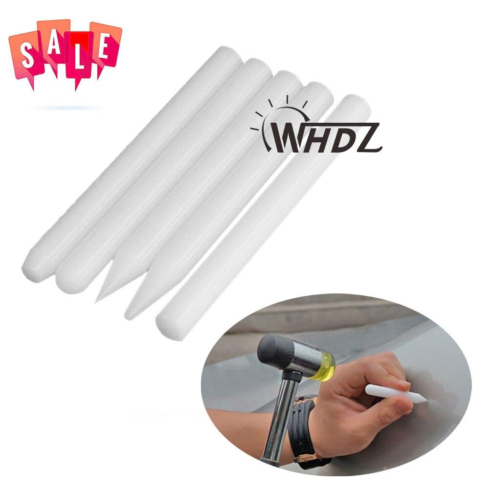Sale 5pcs PDR Tap Down Tools White Nylon Pen Knock Down Tool Paintless Dent Repair Tools Hand Tool Set